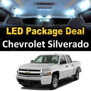 For 2008 2010 Chevrolet Silverado Led Lights Interior Package Kit White 8pcs