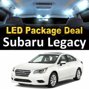 For 2010 2017 2018 Subaru Legacy Led Lights Interior Package Kit White 8pcs