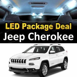 For 2014 2015 2016 Jeep Cherokee Led Lights Interior Package Kit White 8pcs