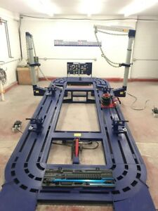 New 20 Feet Auto Body Frame Machine With Tools Cart And Tool And Clamps