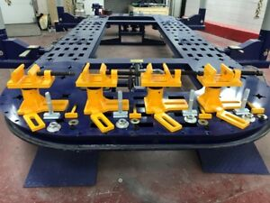 Universal Heavy Duty Auto Body Frame Machine Anchoring Clamp Set Of 4