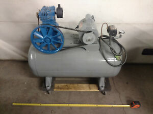 Jenny Air Shop Compressor Dayton 3 4 Hp Motor And Medium Size Tank Great Shape