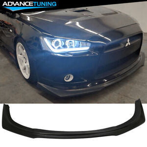Fits 09 15 Mitsubishi Lancer Ra Front Bumper Lip For Ralliart Gt Gts Model Only