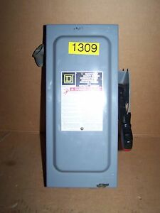 Square D H321n Switch Fusable Safety Electrical Box 30 Amp