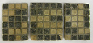 Vintage Checkerboard Batchelder 3 Tile Set California