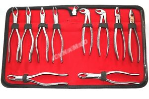 German Stainless Extracting Forceps Extraction Dental Instruments set Of 10 Ea