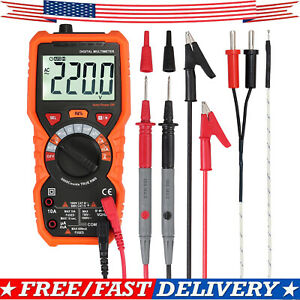 6000counts Digital Multimeter Auto Range Lcd Backlight True Rms Ac dc Ncv Tester
