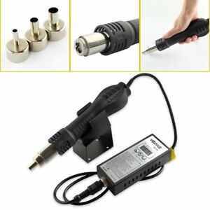 Portable Rework Solder Heat Gun Hot Air Blowe Welding Tools With 3 Nozzles
