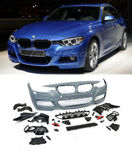 For 12 17 F30 3 series Pdc M Tech Performance Sport Front Bumper Conversion