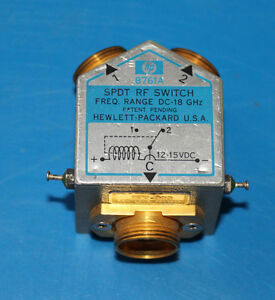 Hp 8761a Spdt Rf Coaxial Switch Dc 18 Ghz 12 To 15v Solenoid