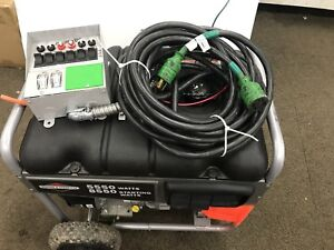 Briggs Stratton Portable Home Backup Generator Only Used 5550 Generator