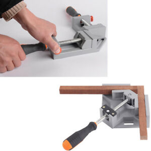 2pcs Corner Clamp 90 Right Angle Clamp Woodworking Vice Wood Metal Kit