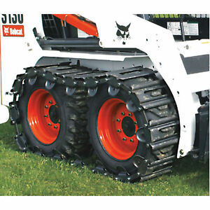10 Over The Tire Steel Skid Steer Tracks bobcat