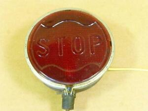 1920s 30s Antique Glass Stop Light Model T A Hot Rod Brake Lamp