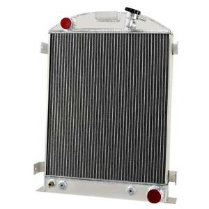 4 Row Aluminum Radiator For 1930 1932 Ford Model A B Base Chevy V8 Engine