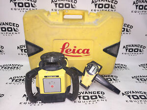 Leica Rugby 610 Rotary Self Leveling Rotating Laser W Remote Carrying Case