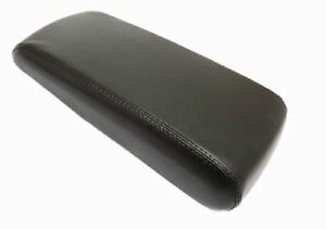 Black Center Console Lid Armrest Cover Synthetic Leather For 08 10 Dodge Charger