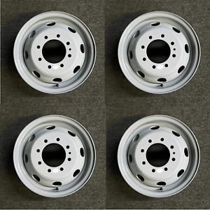 Set Of 4 16 Dually Steel Wheels For 1992 2007 Ford E350 E450 Oem Quality 3210