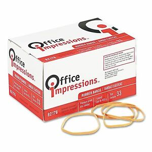 Office Impressions Rubber Bands 33 1lb 640 Ct Home Or Office Use Pack Of 2