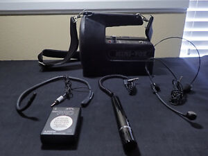 Mini Vox Pb 25w Megaphone Wireless System Azden Pro With Collar Mic headset