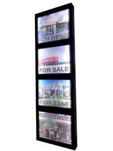 Real Estate Agency Led Light Box Window Business Sign One Sided With 4 Picture