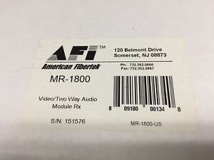 2 fiber Optic Transmitter And Receiver Sets Mt 1800 Mr 1800 America Fibertek