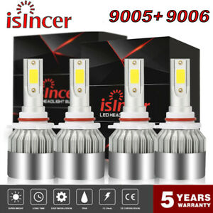 9006 9005 Led Headlight Total 3000w 450000lm High Low Beam Combo Kit 6000k Combo