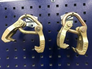 2 Pieces Double Looper Claw Hooks Clamp Pull Auto Body Frame Machine Tool