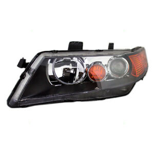 Fits Acura Tsx 04 05 Drivers Hid Headlight Assembly Lens W Black Housing