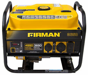 Firman Performance Series P03601 Gas Powered 3650 4550 Watt Portable Generator