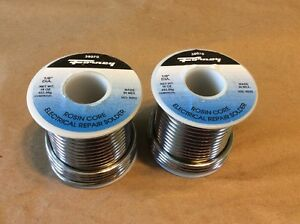 Lot Of 2 Forney 38070 Solder Commercial Grade Rosin Core 1 8 1 Lbs