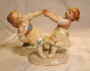 Karl Ens Porcelain Figurine Volkstedt Germany Children Dancing