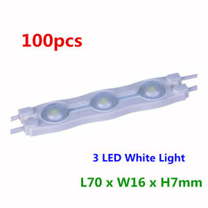 Smd 2835 Waterproof Led Module 3 Led High Power Chips With Optical Lens White