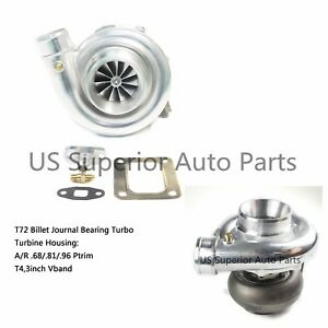 Universal Performance T4 Turbo T72 Billet Wheel Turbocharger 96a r Rear Housing
