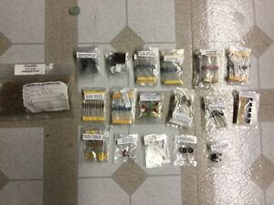 Large Lot Of Various Electronic Components Resistors Caps Led Switch Etc