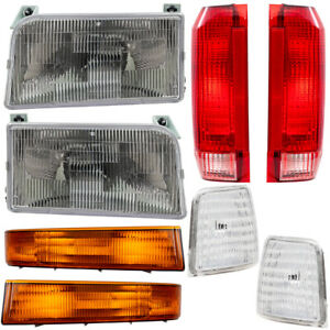 Ford Bronco Pickup Truck 8 Pc Set Headlight Tail Lamp Corner Side Marker Lamps