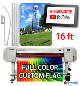 Full Color Custom Tall Swooper Advertising Flag Feather Banner Pole