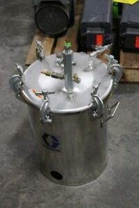 Graco 5 gallon Stainless Steel Paint Pressure Tank 110 Psi Hvlp 236143
