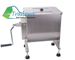 Food Meat Hand Manual Mixer Processor Commercial Professional Heavy Duty 20p 10l