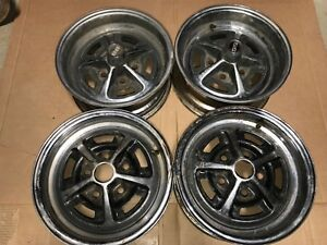 Steel Chrome Wheels 14 X 6 Jk Super Rare Oldsmobile Cutlass Set Of 4 Original