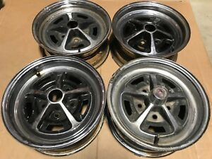 Set Of 4 Oldsmobile 14 X 6 Ss Wheel 442 Gm Rally Wheel Ralley Cutlass Jk Code