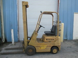 Hyster S25a Lpg Propane Forklift 2400 Lbs Cap 42 Forks Cushion Tires