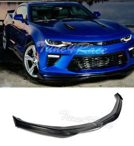 For 16 Up Camaro Ss Front Bumper Lip Carbon Fiber V8 T6 Style W Side Pieces