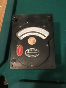 Vintage Weston Portable Standard Volt Meter From General Dynamics Quincy Ma