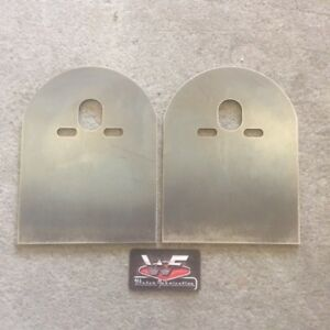 Rear Bridge Plates Pair Plain Minitruck Bagged Air Ride Bags Mini Truck