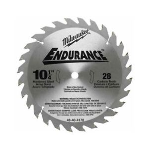 Milwaukee 48 40 4170 10 1 4 Rip Crosscut Circular Saw Blade