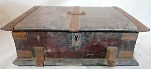 Antique Chest Cash Jewelry Wooden Box Traditional India Vintage Storage Rare Old