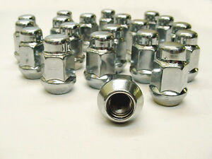 20x Buick Olds Pontiac Rally Rim Chrome Wheel Acorn Lug Nuts 7 16 20 Rht Nos
