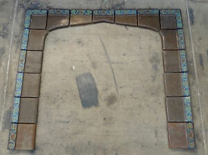 S S Vintage 17 Pc Fireplace Surround California Arts Crafts Brown