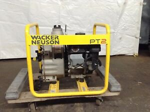 Used Wacker Neuson Pt2 2 Trash Pump Gas Power Dirty Water Dewatering Well Sump